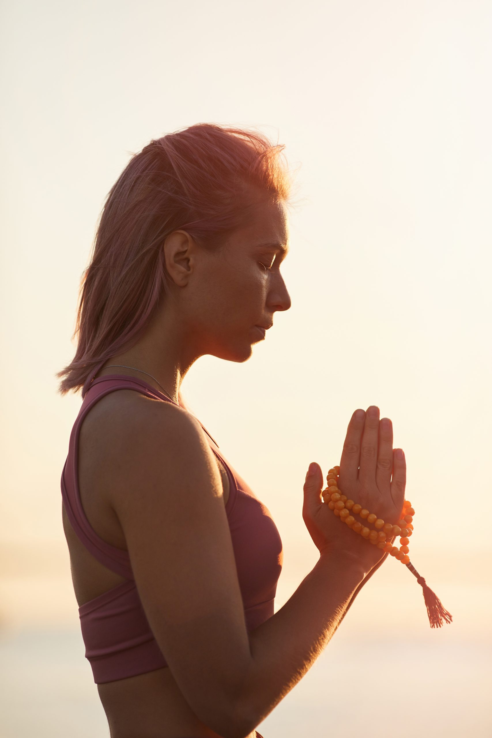 meditation during sunset W23TGB2 scaled 2